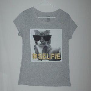 Cat # Selfie ladies T-shirt - size XL (15/17)